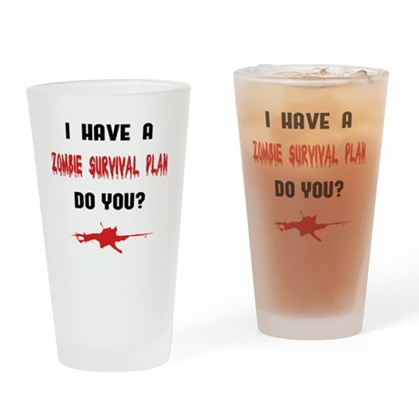 Zombie1_light Drinking Glass
