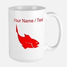 Custom Red Trout Silhouette Mugs