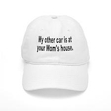 yourmomshousebumperstickersmall Baseball Cap