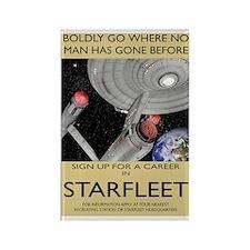 starfleet-recruitment greeting ca Rectangle Magnet