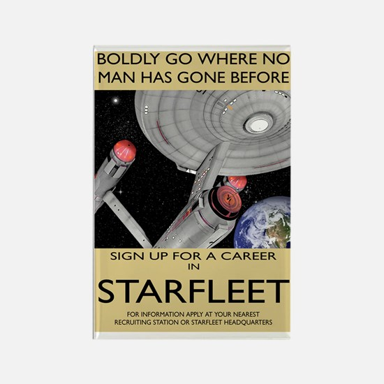 starfleet-recruitment greeting ca Rectangle Magnet