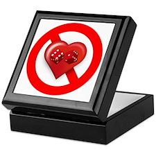 Dont Gamble with my Heart Keepsake Box
