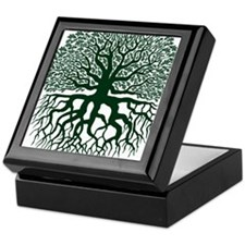 OakTreedarkgreen Keepsake Box