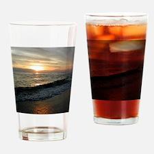 Sunset  Surf 9x12_print Drinking Glass