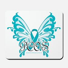 PCOS-Butterfly-Ribbon Mousepad