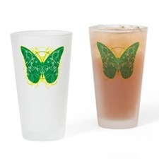 Gastroparesis-Butterfly-blk Drinking Glass