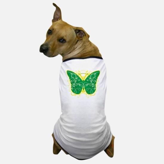Gastroparesis-Butterfly-blk Dog T-Shirt