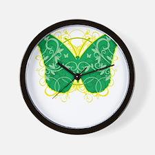 Gastroparesis-Butterfly-blk Wall Clock