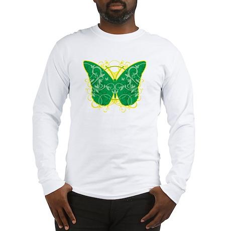 Gastroparesis-Butterfly-blk Long Sleeve T-Shirt