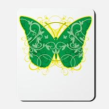 Gastroparesis-Butterfly-blk Mousepad
