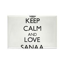 Keep Calm and Love Sanaa Magnets