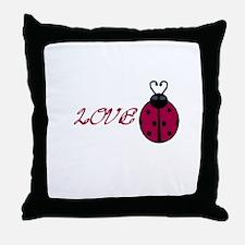 Lovebug Throw Pillow