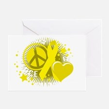 Liver-Cancer-PLC-blk Greeting Card