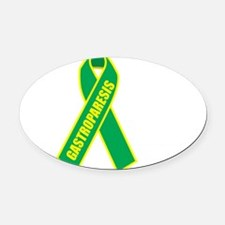 Gastroparesis-Hope-blk Oval Car Magnet