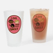 love makes biracial parents 2  girl Drinking Glass