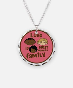 love makes biracial parents  Necklace