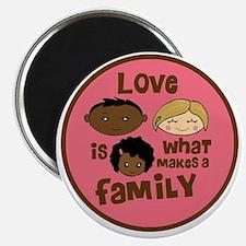 love makes biracial parents 2  girl copy Magnet