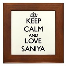 Keep Calm and Love Saniya Framed Tile