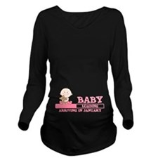 Arriving in January Long Sleeve Maternity T-Shirt