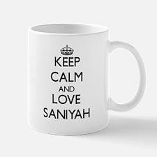 Keep Calm and Love Saniyah Mugs