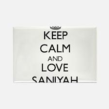 Keep Calm and Love Saniyah Magnets