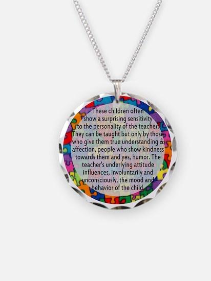 hans quote button Necklace Circle Charm