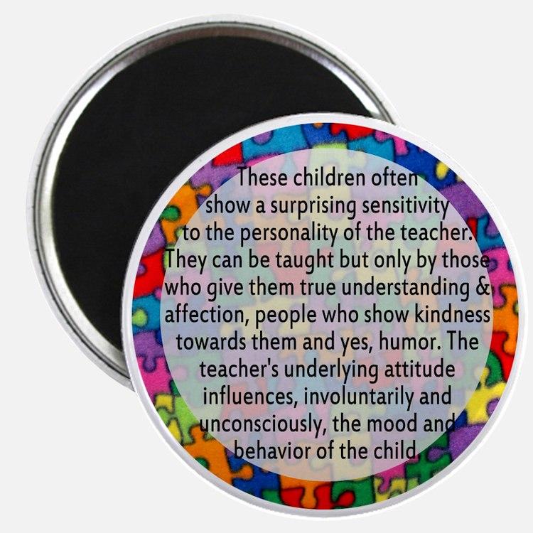 hans quote button Magnet