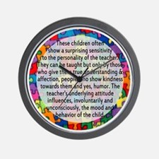 hans quote button Wall Clock