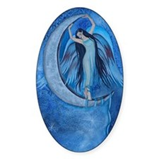 Moon Dancer Faerie Oval Decal