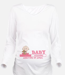 Arriving in April Long Sleeve Maternity T-Shirt