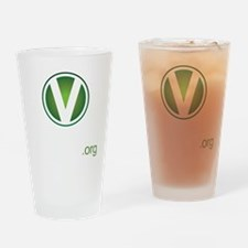 VforVeganGraphic-ColorKO Drinking Glass