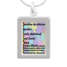 2-asd sticker Silver Portrait Necklace
