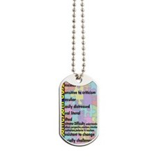 2-asd sticker Dog Tags