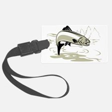 trout jumping Luggage Tag