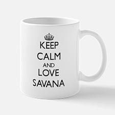 Keep Calm and Love Savana Mugs