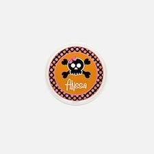 pinkskull_personalized Mini Button