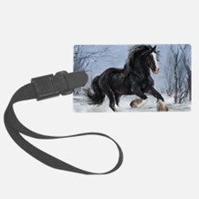 Winter Canter Luggage Tag