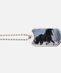 Winter Canter Dog Tags