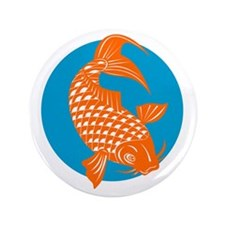 "koi carp fish 3.5"" Button"