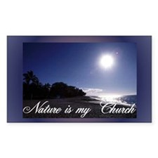 """Nature Is My Church"" Rectangle Decal"