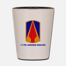 SSI - 177th Armored Brigade with text Shot Glass