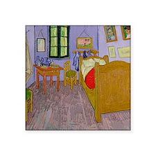 "Van Goghs Bedroom at Arles Square Sticker 3"" x 3"""