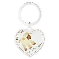 His little lamb Blank Heart Keychain