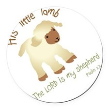 His little lamb Blank Round Car Magnet