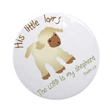 His little lamb Blank Round Ornament