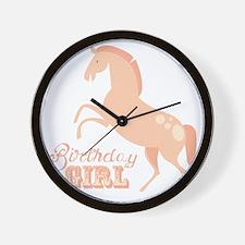 Birthday Girl Pony Wall Clock