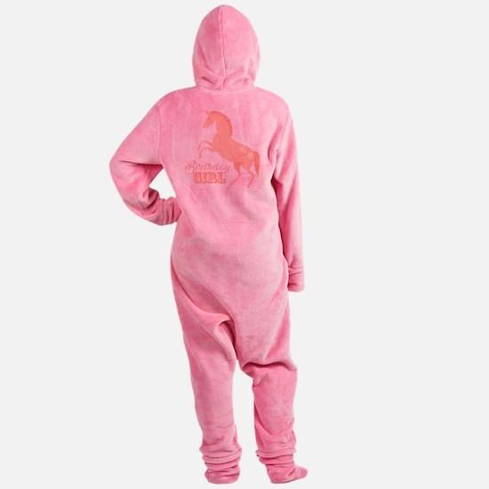 Birthday Girl Pony Footed Pajamas