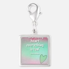 young-heart-journal Silver Square Charm