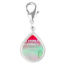 young-heart-bag Silver Teardrop Charm