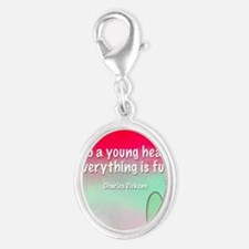 young-heart-bag Silver Oval Charm